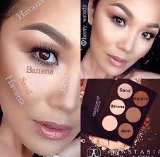 highlighting and countouring using anastasia beverly hills contour kit
