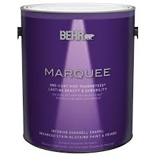 Interior Paint Home Depot Behr Marquee 1 Gal Ultra Pure White Semi Gloss Enamel Interior