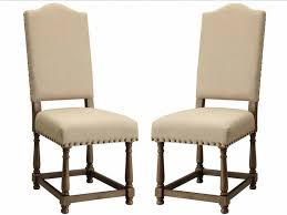 nailhead trim dining chairs furniture nailhead dining chair awesome willem set of 2