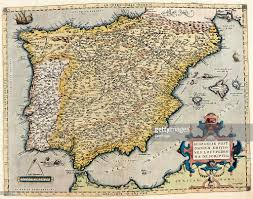Map Of Spain And Portugal Map Of Spain And Portugal 1570 Museo Navale Genoa Italy Fine Art