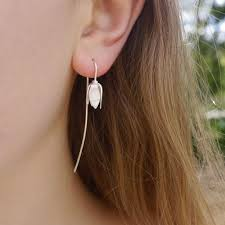 earing model snowdrop earring contemporary earrings by contemporary jewellery