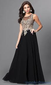 lace applique sheer bodice prom dress