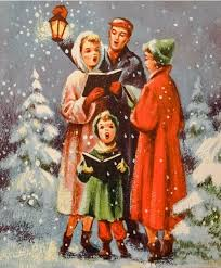 755 50s singing family vintage christmas card greeting vintage