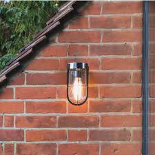Antique Brass Outdoor Wall Lights by Astro Lighting 7850 Cabin Frosted Glass Wall Light In Antique Brass
