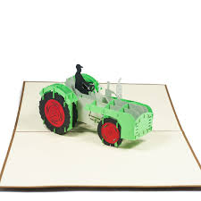 tractor pop up card 3d paper gift card retirement 3d greeting