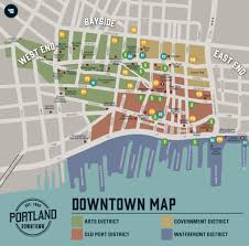 Portland On Map Of Usa by Downtown Map Portland Downtown