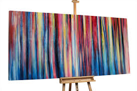 modernes abstraktes xxl gemälde sehr bunt kunstloft