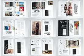 magazine layout size template magazine layout design template creative page magazine