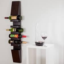furniture cool dark teak wood wall mounted wine rack design for 6