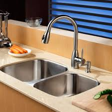 Vigo Stainless Steel Faucet Sinks Faucets Interesting Double Bowl Undermount Kitchen Sink