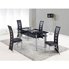 global furniture dining table global furniture rectangular glass dining table with trim buy now
