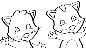 three little kittens coloring page mother goose club mother