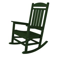 polywood presidential green patio rocker r100gr the home depot
