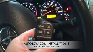 toyota car and remotes toyota corolla remote start installation and demostration