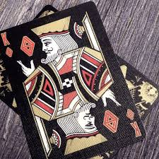 bicycle cards deck black gold edition card experiment