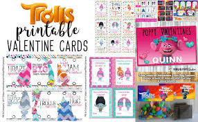 valentines cards for kids 18 trolls printable s cards for kids best toys