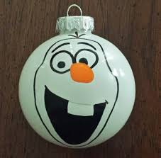 frozen olaf hand painted plastic ball ornament for 2014 christmas