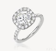 square engagement rings with halo in square halo engagement ring