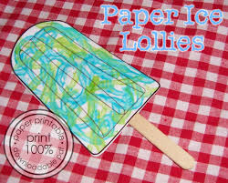 summer kid craft projects paper lollies handmade cuddles