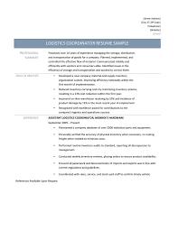 Warehouse Logistics Resume Sample by Download Logistics Coordinator Resume Haadyaooverbayresort Com