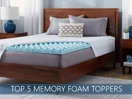 bed pillow toppers our 5 highest rated memory foam mattress topper reviews for 2018