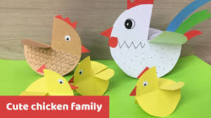 cute chicken family easter decoration easy craft for kids youtube