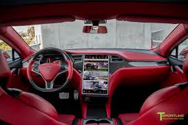 red bentley red multi coat custom tesla model s 2 0 bentley red interior