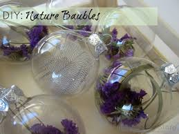 easy beautiful diy decorations nature baubles