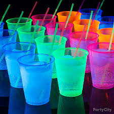 light up drinking glasses party city glow in the dark bubbly drink idea black light party ideas