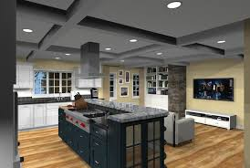 agreeable open floor plan kitchen design all dining room