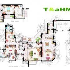 tv show apartment floor plans creative famous tv show apartments viralscape for two a half men