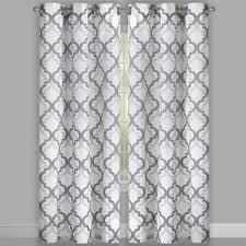 84 u201d wilson trellis grommet window curtains set of 2 christmas
