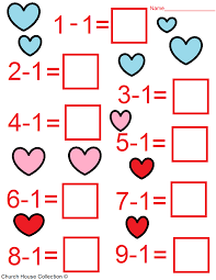 valentine u0027s day math worksheets for kids