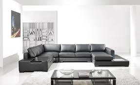 Black Bonded Leather Sectional Sofa Tos Lf 2066 Bn