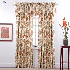Brown Floral Curtains Celine Jacobean Floral Window Treatment