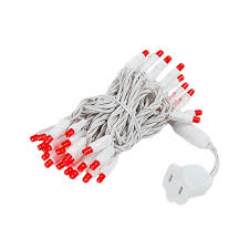 red and white bulb christmas lights white wire wide angle red 50 bulb led christmas lights sets 11 feet