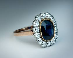 jewelry rings sapphire images Vintage sapphire diamond engagement ring c 1910 antique jewelry jpg