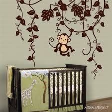 Safari Nursery Wall Decals The Most Awesome Images On The Walls Room And Babies