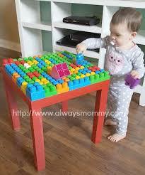 my first mega bloks table diy mega blocks table diy pinterest block table playrooms and