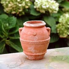 small urn small urn seibert rice italian terra cotta from impruneta