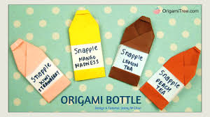 origami bottle snapple inspired easy paper crafts for kids