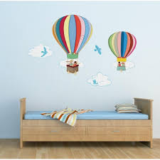 air balloon wall sticker boo