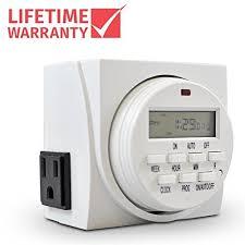 timer for outdoor light socket
