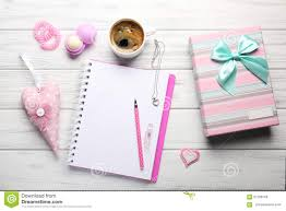 Girly Desk Accessories by Girly Pink Desktop And Stationery Stock Photo Image 47293126