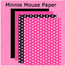 minnie mouse printable paper pack