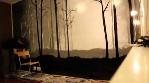 painting a beautiful forest on the bedroom wall by oliver thor painting a beautiful forest on the bedroom wall by oliver thor youtube