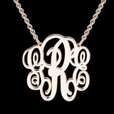 personalized monogram necklace large personalized monogram necklace gold monogram necklace
