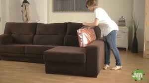 L Shaped Sofa With Chaise Lounge How To Put A Stretch Chaise Sofa Cover Youtube