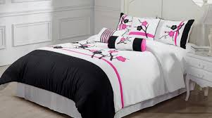 Black White Home Decor Bedding Set Pink And White Bedding Cute Pink And White Polka Dot