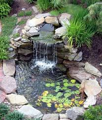 Waterfall In Backyard Backyard Pond Ideas With Waterfall